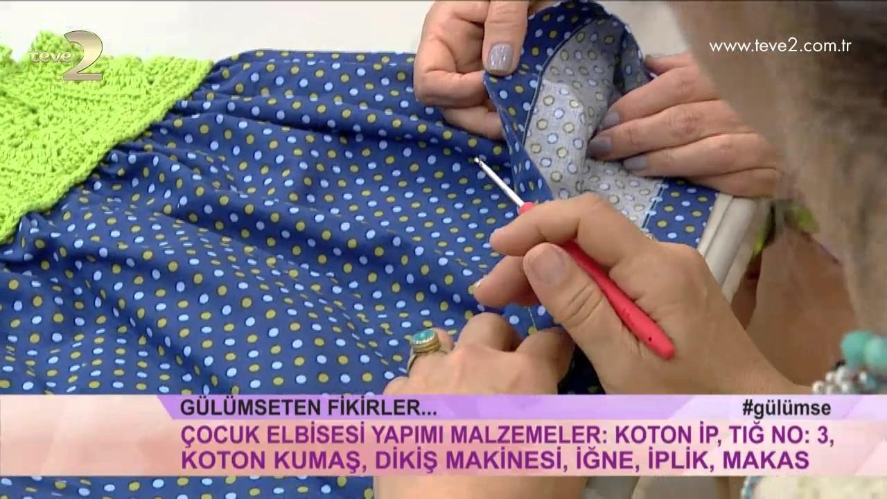 Dalgalı Etekli Çocuk Elbisesi Yapımı Videolu Anlatımlı