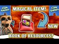 NEW 💥MAGICAL ITEM💥 IN CLASH OF CLANS? 🎯 BOOK OF RESOURCES 🎯 | BEST UPDATE CONCEPT EVER 😇 !