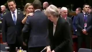 Theresa May Ignored by World Leaders at EU Summit - Lonely Theresa May