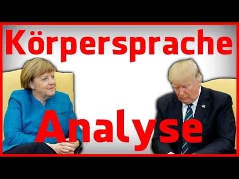 Angela Merkel bei Donald Trump - Körpersprache Analyse
