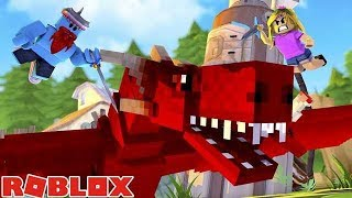 SHARKY AND LITTLE KELLY FIGHTS A DRAGON!! Sharky Roblox