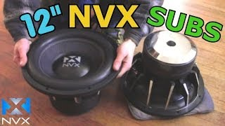 NVX VCW122 Subwoofer Testing & Overview | Two 12