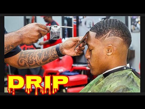 EASY DROP FADE WITH WAVES AND DESIGN. CJ SO SMOOTH HAIRCUT TUTORIAL