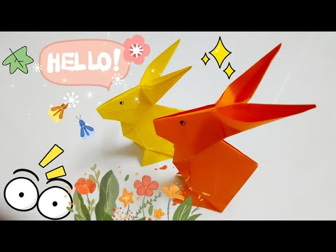 DIY Paper Origami - How to make rabbit origami easy 🐇