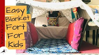 How To Build A Blanket Fort For Kids | Arpitha Rai Vlogs