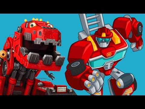 TRANSFORMERS VS DINOTRUX ✔ TRANSFORMERS RESCUE BOTS VS DINOTRUX: TRUX IT UP - Games For Kids - 동영상
