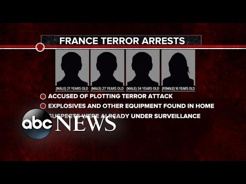 French Officials Arrest 4 in Alleged Terror Plot