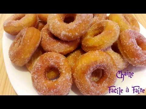 Beignets sucrés - Donuts maison faciles et delicieux