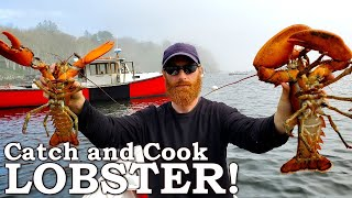 GIANT LOBSTER Catch and Cook! | 100% WILD Food SURVIVAL Challenge