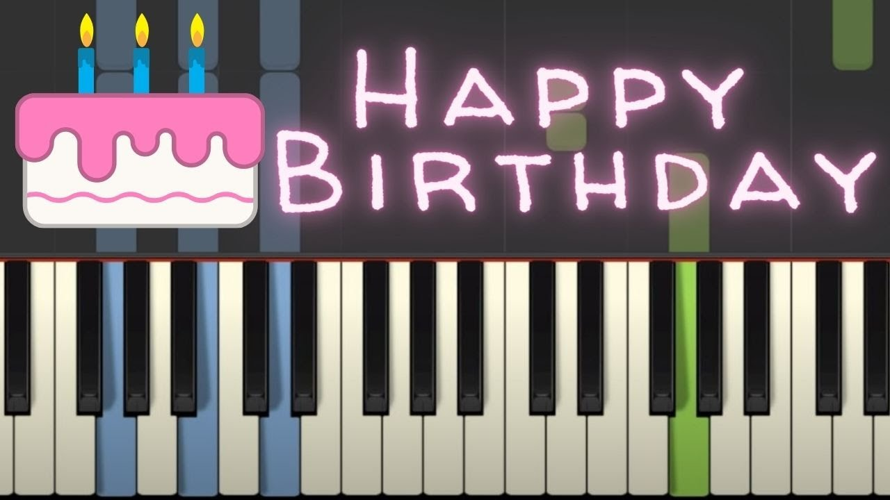 Happy Birthday To You Piano Tutorial With Chords Free Sheet Music Youtube