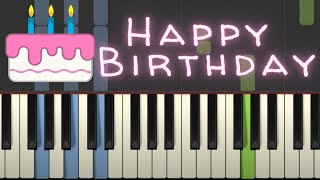 Happy Birthday to You piano tutorial with Chords, free sheet music