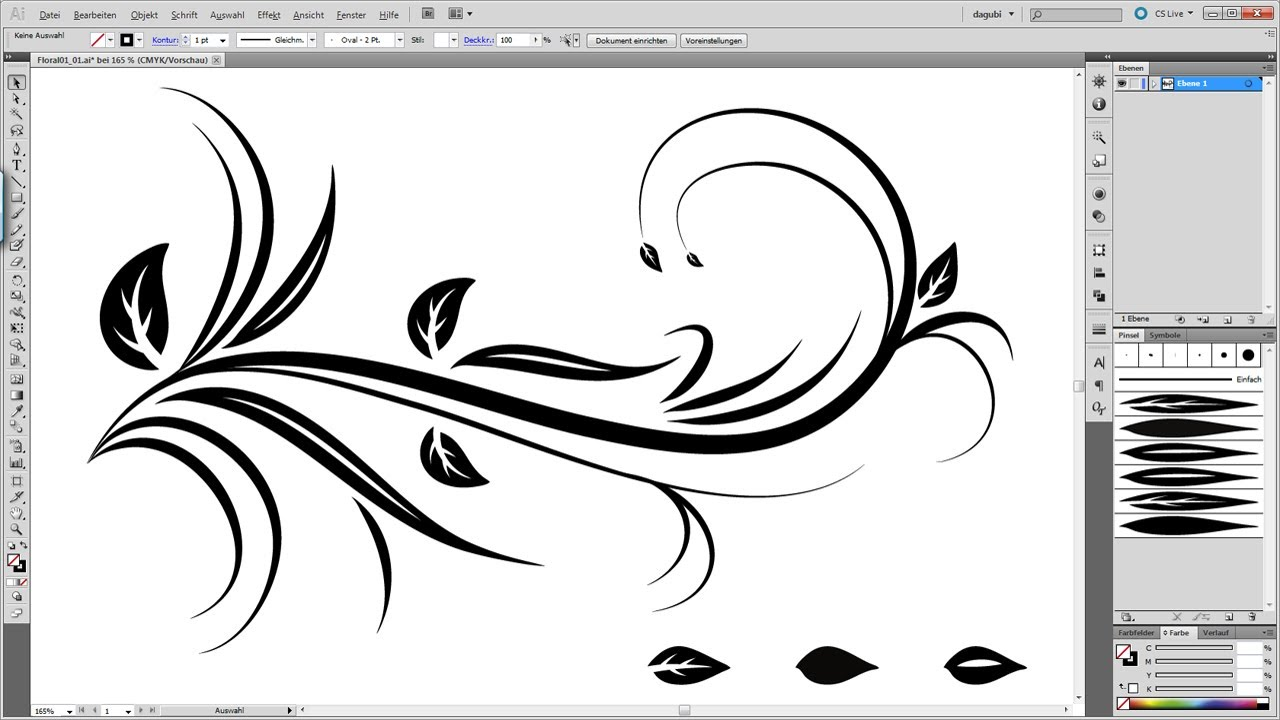 Line Art Design Tutorial : Swirl floral tutorial illustrator youtube