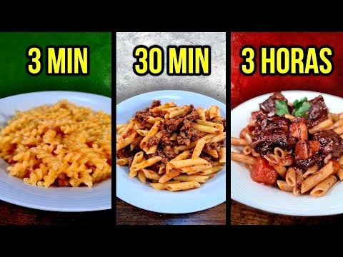 3 Min vs. 30 Min vs. 3 Horas MACARRONES 🍝 ¿Cuál eliges tú?