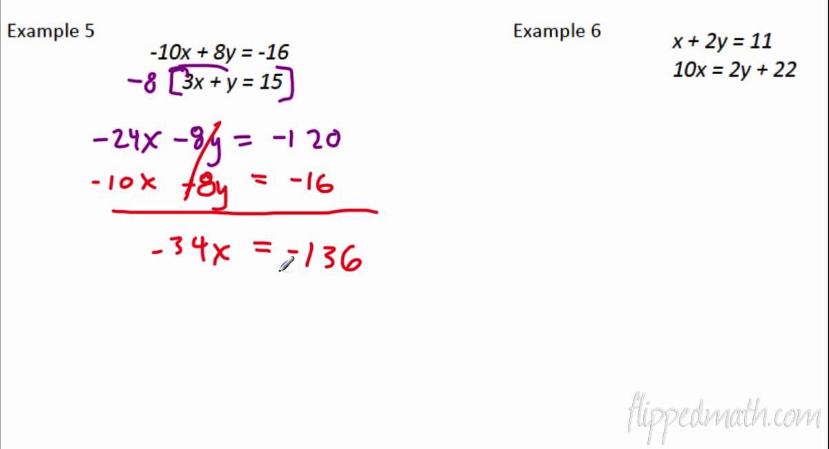 4.2 Solving Linear Systems Algebraically - YouTube