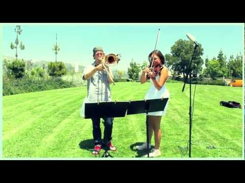 Titanium - David Guetta Cover - Paul The Trombonist Feat Suzanne Kite - Trombone & Violin