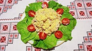 Салат с тунцом рецепт простой салат из тунца рецепты салатов в домашних условиях салат з тунцем