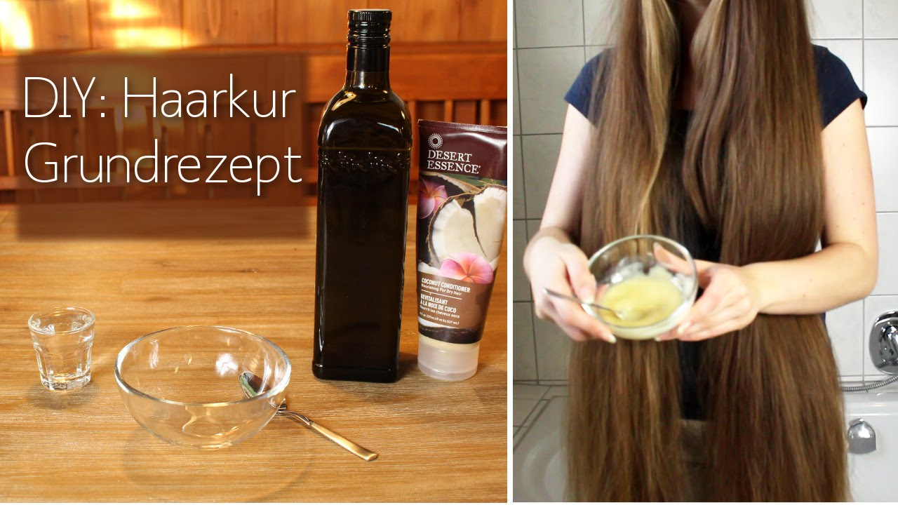 diy grundrezept haarkur basic hair treatment for healthy hair