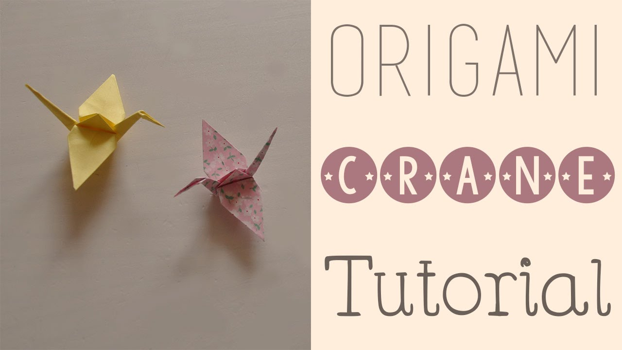 Origami Crane Tutorial - YouTube - photo#25