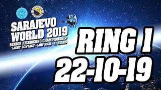 WAKO World Championships 2019 Ring 1 22/10/19