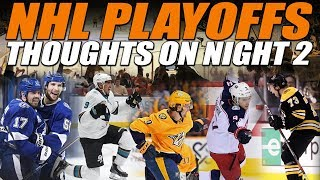Thoughts on Night 2 of the NHL Playoffs