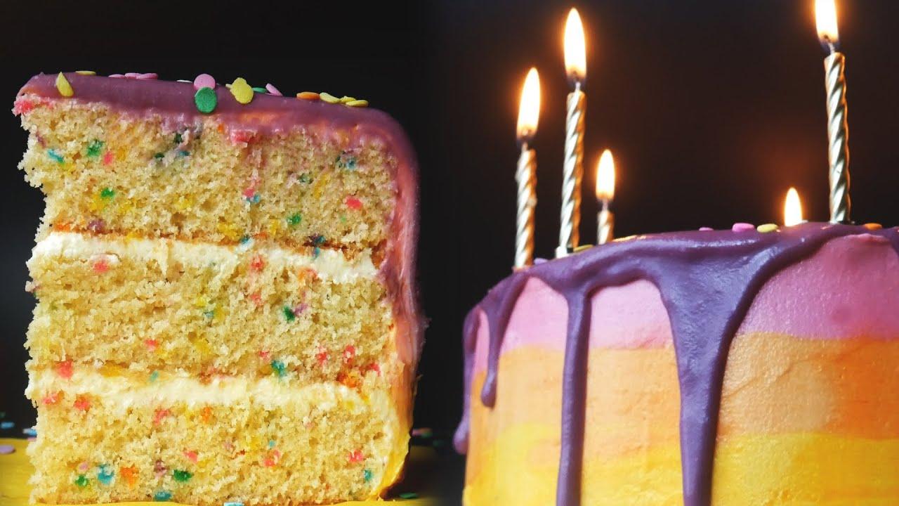 Confetti Funfetti Birthday Drip Cake How To Make A Birthday Cake