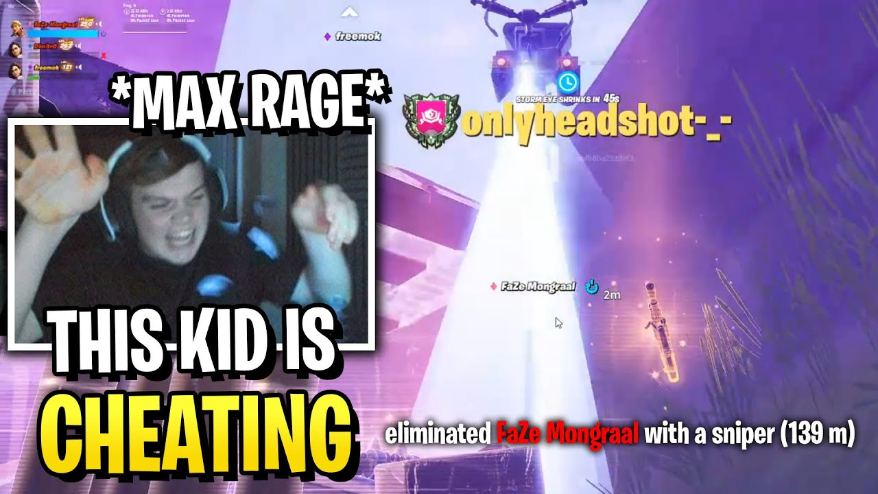Mongraal MAX RAGE After *HACKER* Kills Him With Two Times Snipers!
