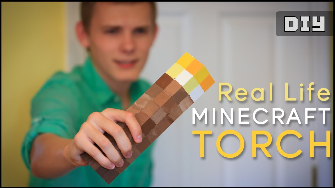 How to make a real life minecraft torch diy youtube solutioingenieria Images