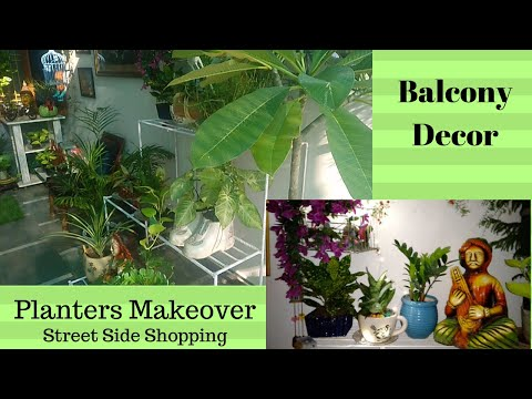 Tips for Balcony Corner Decor  || Street Side Shopping for Outdoor || Old Planters Makeover