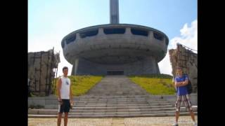 Buzludzha Monument - communist conference center in Bulgaria