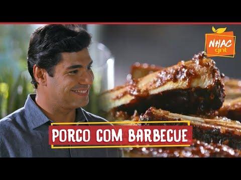 Costela de porco com molho barbecue caseiro e pão de alho poró | Felipe Bronze | Perto do Fogo