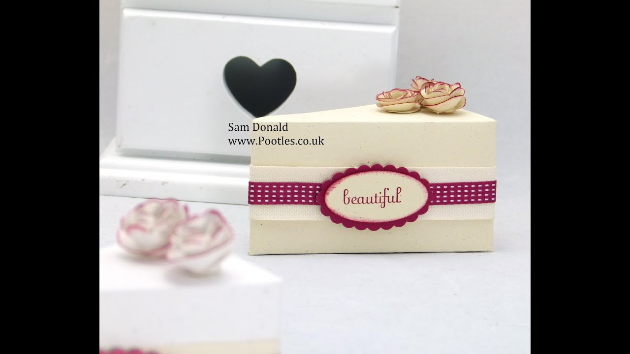 Stampin Up Cake Slice Box Tutorial Template not needed - YouTube