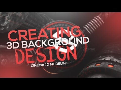 Cinema4D/Photoshop Tutorial | Creating 3D Modeled Background