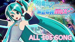All 105 Songs : Hatsune Miku Projet Diva Mega 39s/Mix