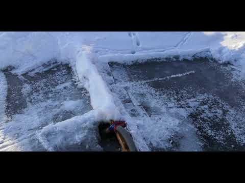 Подача воздуха в пруд зимой