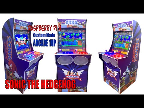 World Premiere Sonic The Hedgehog Arcade 1Up - Custom Build from Sonic Love