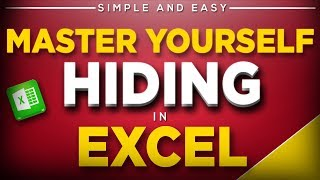 Master Hiding Anything in Excel in Hindi - Simple and Easy