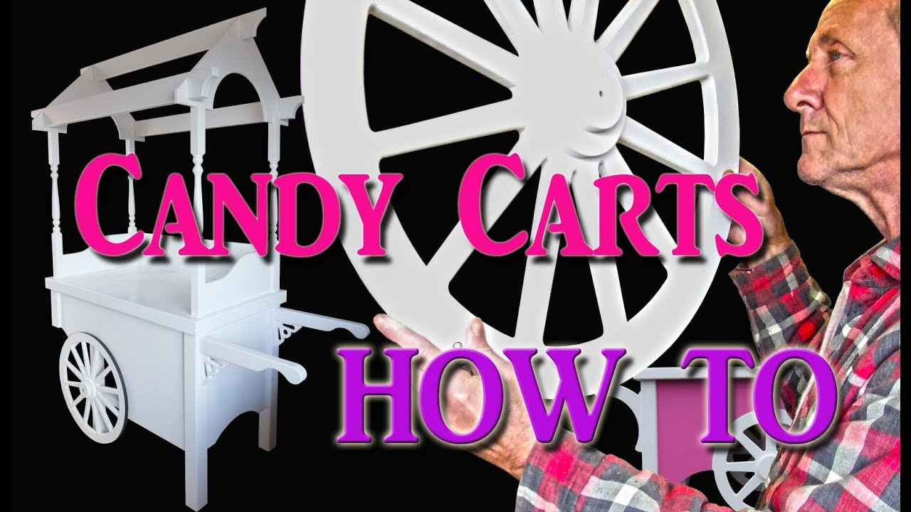 Candy Cart Embling Collapsible Sweet Or Floss Machine Cotton You