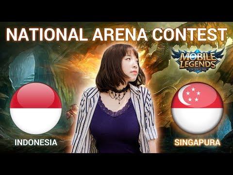 INDONESIA VS SINGAPURA - National Arena Contest Cast by Kimi Hime - 16/01/2018