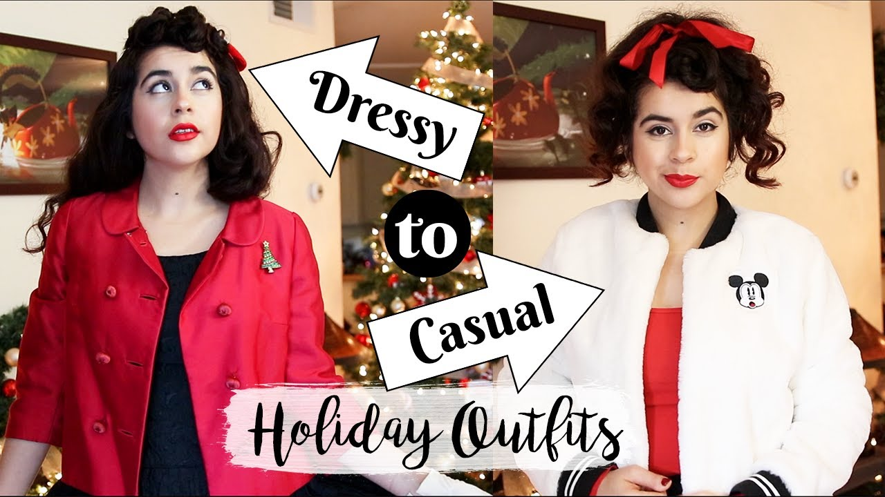 [VIDEO] - Vintage Holiday Party Outfits | From Dressy to Casual | Lookbook 3