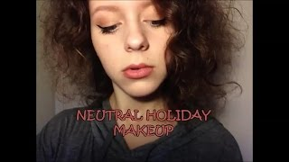 Neutral Holiday Makeup Thumbnail
