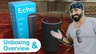 Unboxing & Overview of the Amazon Echo Alexa Smart Speaker