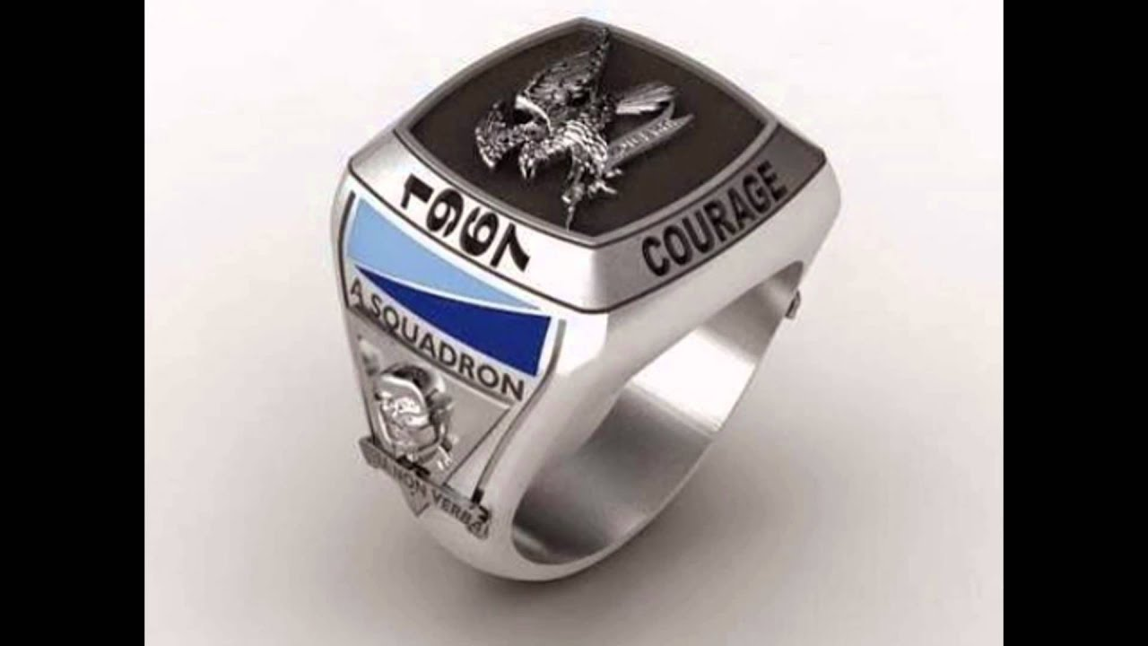 the in army gold military designed and for pin rings airborne silver