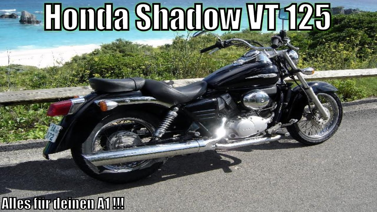 honda shadow vt 125 125ccm de hd youtube. Black Bedroom Furniture Sets. Home Design Ideas