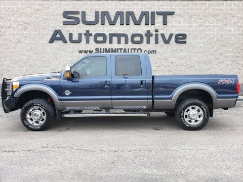 10372 2013 FORD F250 LARIAT ULTIMATE DIESEL BLUE JEANS WALK AROUND REVIEW www.SUMMITAUTO.com