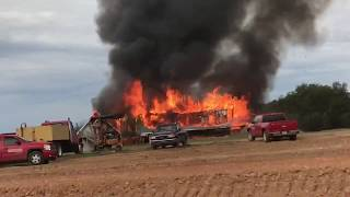 House Fire. Huge House on Fire.