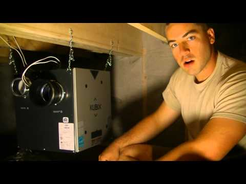 HRV, Heat Recovery Ventilator in Air-Tight House