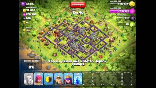 Clash of Clans Trophy Challenge to 3k with T1 troops Crystal League]