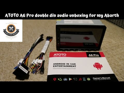 Atoto A6 double din audio unboxing for my Abarth