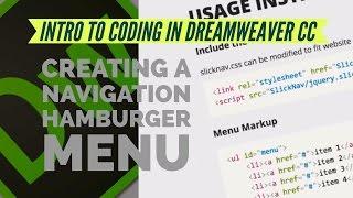 2017 Dreamweaver CC navigasyon hamburger menü oluşturma [05/13]