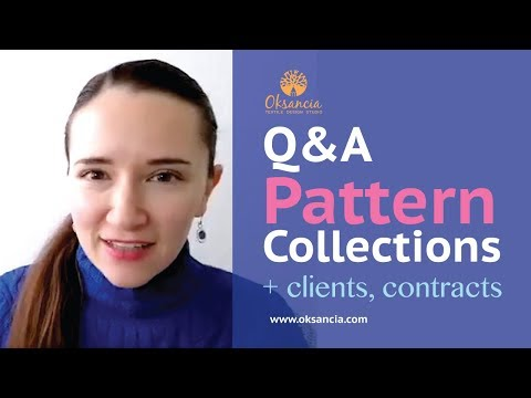 Q&A: How to design repeat pattern collections. How to find customers for textile design projects